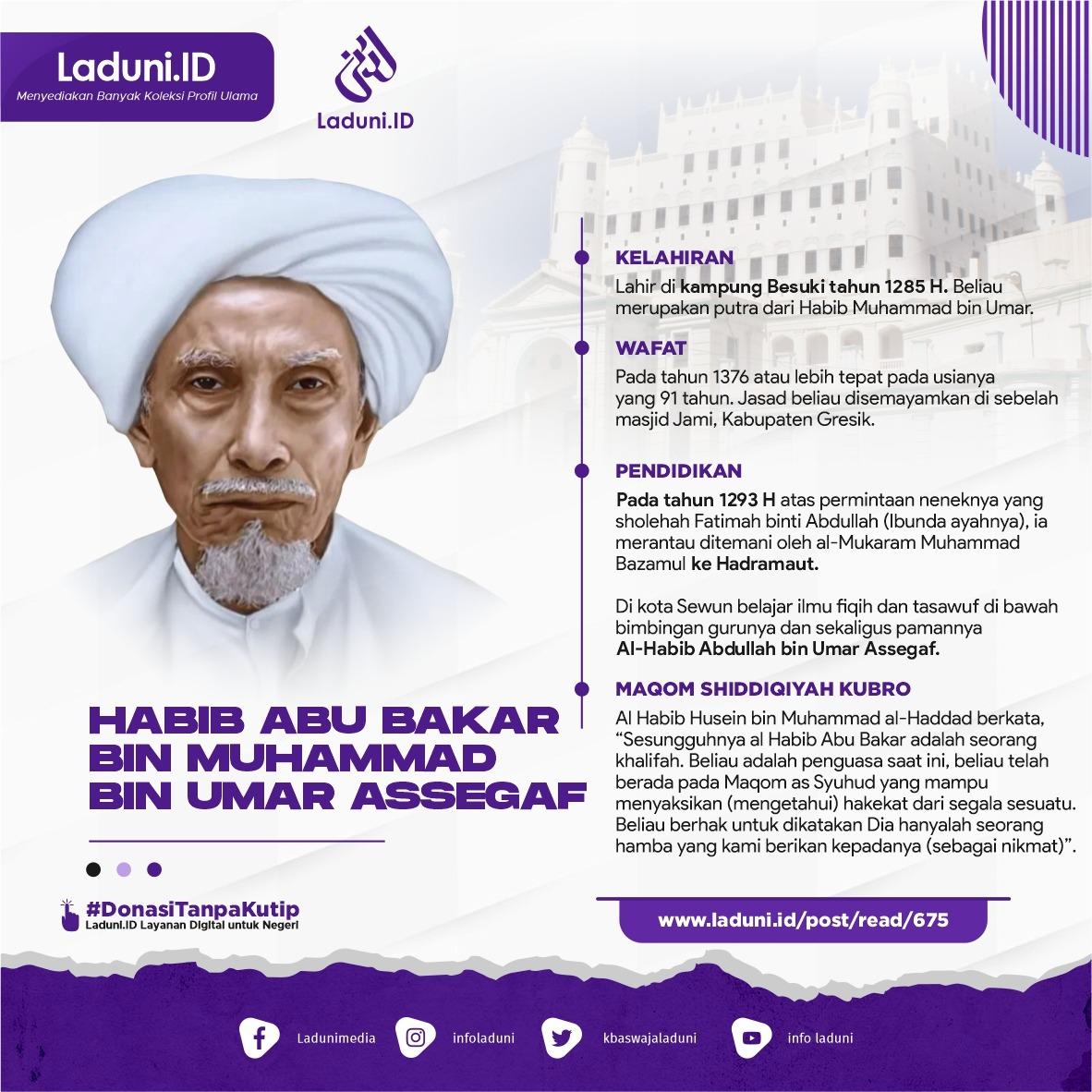Biografi Habib Abu Bakar bin Muhammad bin Umar Assegaf