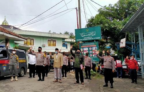 Pastikan Jalani Prokes, Kapolres Cianjur Silaturrahim ke Ponpes Al-Ittihad